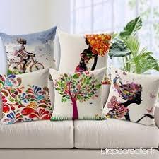 taie d oreiller pour canapé zhzazo 5 pièces coton linge de lit taies d oreiller pour coussins
