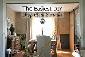 Cheap Outdoor Curtains For Patio Cheap Home Decor Easiest Diy Drop Cloth Window Treatments