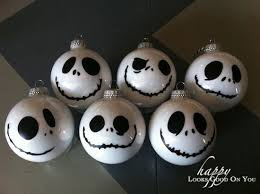skellington ornaments materials white acrylic paint glass