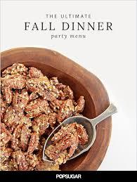fall dinner party menu popsugar food