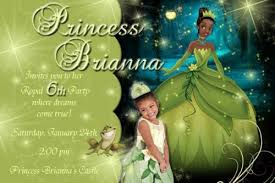 princess frog birthday party invitation ideas