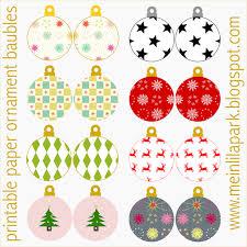 free printable ornaments baubles ausdruckbarer