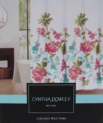 amazon com cynthia rowley floral fabric shower curtain u0027giacomo