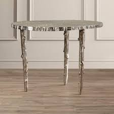 john richard table ls ls dimond home metropolitan console table in silver