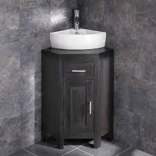 Small Corner Vanity Units For Bathroom Olbia Corner Sink With Alta Wenge Oak Space Saving Vanity Unit