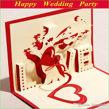 3d love cards blue red greeting cards laser cut heart u0026 tree 2014