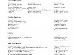 Ballet Resume Download Dance Resume Examples Haadyaooverbayresort Com
