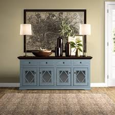 buffet sideboard cabinet storage kitchen hallway table industrial rustic fraire 71 4 drawer sideboard