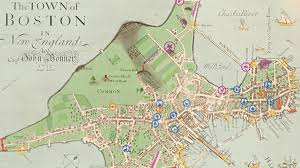 colonial map explore colonial boston social studies pbs