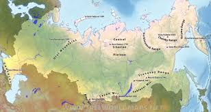 North European Plain Map by Russia Physical Map
