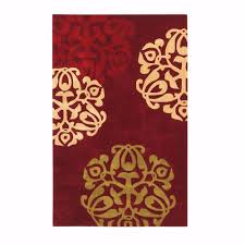 Home Decorators Rugs Sale by Chadwick Burgundy And Gold 5 Ft X 8 Ft Area Rug Red Gold Products