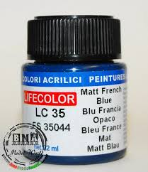 lifecolor acrylic paint matt french blue 22ml fs 35044