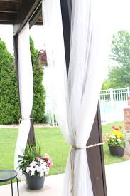 Outdoor Curtain Fabric by Outdoor Oasis Diy Outdoor Curtains