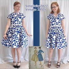 the slapdash sewist vintage simplicity 2827 vintage 1950s shirtdress