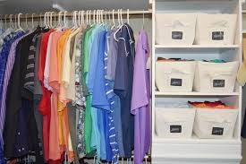 organizing shirts in closet cleaning out the closet master closet maddie butterfield blog