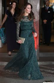 kate middleton dresses kate middleton nails the princess look in green lace dress