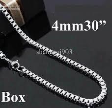 mens box chain necklace images 2018 bold men 39 s jewelry 925 silver 4mm men 39 s box chain necklace jpg