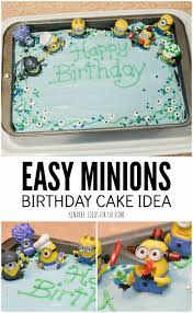 minions birthday party ideas minions birthday cake an easy despicable me party idea