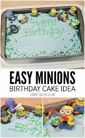 minions birthday cake easy despicable party idea