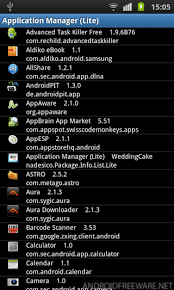 application manager android application manager lite free android app android freeware
