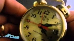 Old Fashioned Alarm Clocks Gold Plated Old Fashioned Alarm Clock Wind Up No Batteries