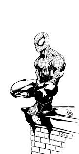 spiderman by komus inks by cb by cb comicart on deviantart