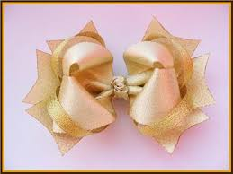 boutique hair bows christmas or special occasion gold sparkly hair bow