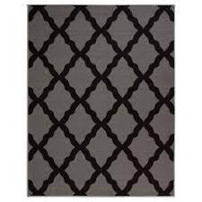 ottomanson contemporary moroccan trellis gray 7 ft 10 in x 9 ft