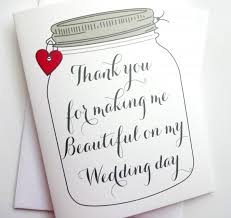 card for on wedding day wedding thank you card thank you for me beautiful on my