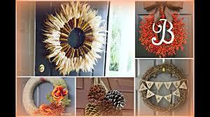 fall diy wreath ideas fall decorating ideas youtube