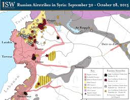 Syria Map Of Control by Russian Airstrikes In Syria September 30 October 28 2015