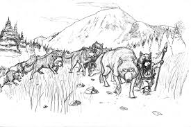 coloring page of wolf wolf pack coloring pages getcoloringpages com