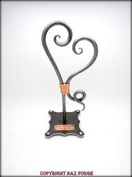 iron wedding anniversary gifts wedding anniversary gift 6th iron theme forged heart sculpture