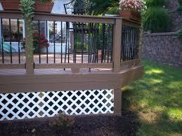 deck skirting st louis decks screened porches pergolas by
