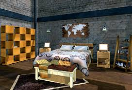 sweet industrial bedroom home and design gallery style image