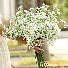 Wedding Home Decor 15 Pcs Artificial Pu Baby Breath Real Touch Flower Gypsophila For