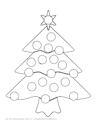 christmas tree bingo dauber coloring pages coloring home