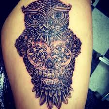 owl with sugar skull meaning owl with sugar skull