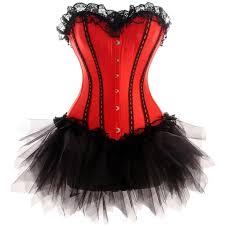 Black Corset Halloween Costume 25 Red Corset Ideas Corsets Overbust