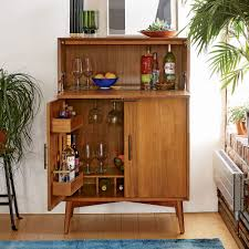 mid century liquor cabinet mid century bar cabinet large west elm for the home