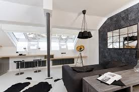 Interior Design Ideas For Apartments Small Tiny Minimalist Black And White Apartment In Prague By Oooox