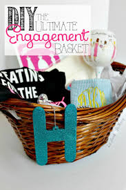 engagement gift basket eat drink be tis the season to get engaged almost