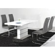 White High Gloss Computer Desk by Heartlands Dolores High Gloss White 120cm Dining Table U2013 Next Day