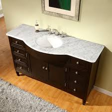 amazon com silkroad exclusive marble top single sink bathroom