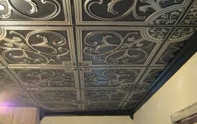 ceiling how to install tin ceiling tiles beautiful plastic tin