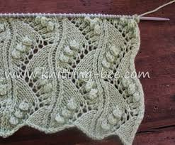 zig zag knitting stitch pattern lace vertical zig zag with bobbles free knitting stitch by http