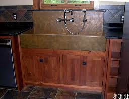 kitchen sink backsplash copper sinks with integral back splashes by rachiele kitchen sink