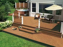 designer decks made from natural wood composite and aluminum