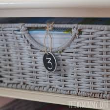White Wicker Bookcase by How To Paint Wicker Baskets With Chalk Paint A Coffee Table