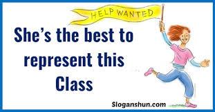 37 best class representative slogans slogans hub